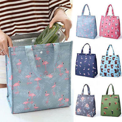 Cute Women Ladies Kid Portable Insulated Handle Lunch Bag Box Picnic Tote Cooler