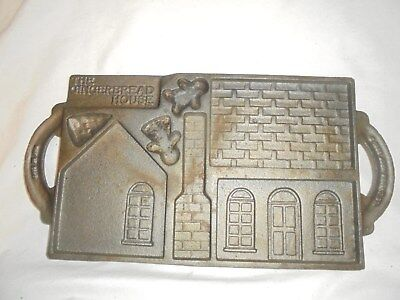 Vintage 1985 John Wright gingerbread house mold cast iron double sided