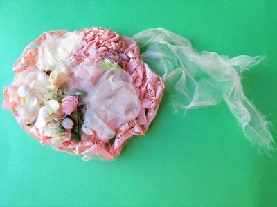 Madame Alexander Lissy Cissette Kelly Pink Woven Straw Doll Hat 1950s Vintage