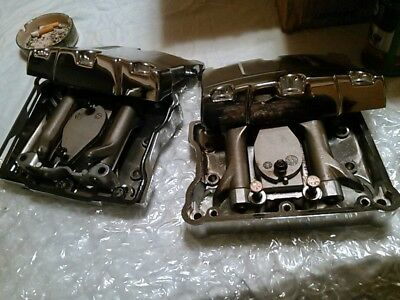 Harley Twin Cam chrome  rocker boxes w/ breathers and rockers