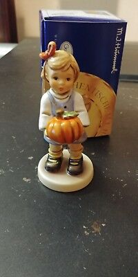 Hummel #2459 From The Pumpkin Patch  4 1/2 Inches Mint In Box Signed Teude?? Dat