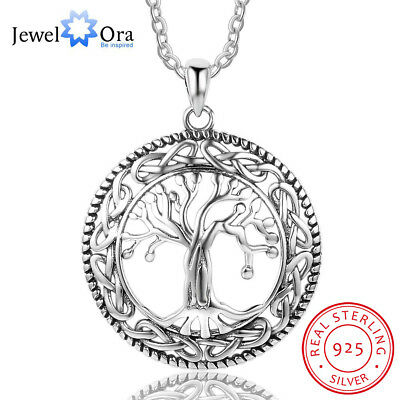 Tree of Life Necklace 925 Sterling Silver Neckalace Pendant Anniversary Jewelry