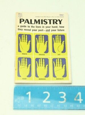 VINTAGE Dell Purse Book Palmistry Guide to Lines in your hand 1968 Mir Bashir