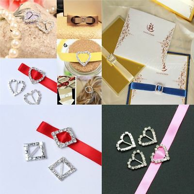 Nice Decor Rhinestone Buckle Wedding Supplies DIY Carft Ribbon Slider