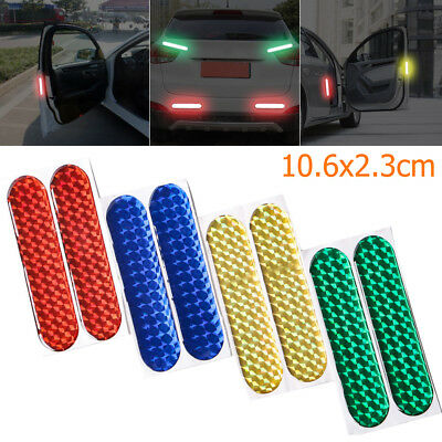 2Pcs Safety Mark Reflective Strips Car Door Sticker Warning Tape Auto Decal Hot