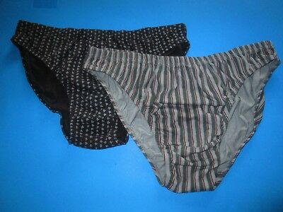 VINTAGE 1990's Mens STRIPED Low-Rise BIKINI Underwear LOT by WOOLWORTHS XL 40-42
