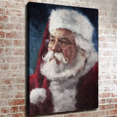 "16""x22""Santa Claus Poster Home Decor HD Canvas prints Picture Wall art Painting"
