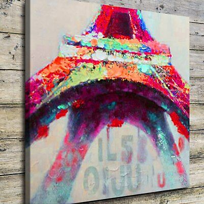 "Abstract Colorful Eiffel 16""x16"" HD Canvas prints Painting Home Decor Wall art"