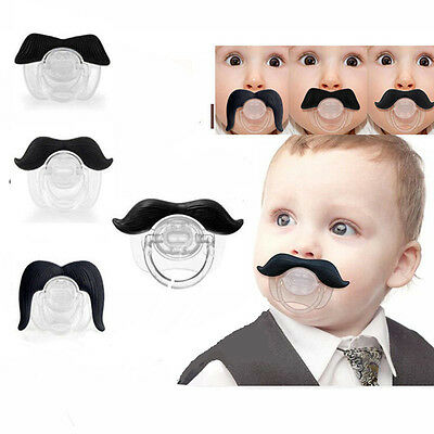 Funny Teeth Mustache Baby Infant Pacifier Orthodontic Dummy Nipples Kids 4 Style