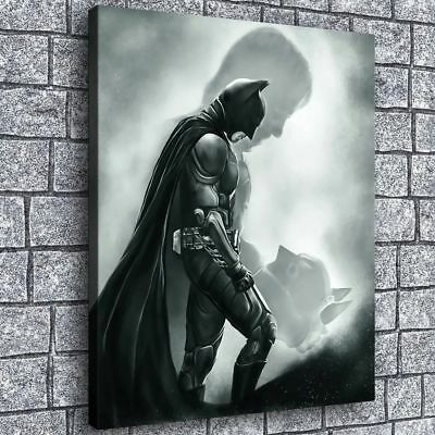 "16""x20"" Batman Figure Picture Home Decor HD Canvas prints Room Wall art Painting"