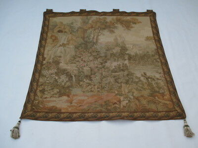 4550 - Old French / Belgium Tapestry Wall Hanging - 107 x 107 cm