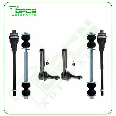 2 Outer & 2 Inner Tie Rod End + 2 Sway Bars Kit For 2001-2004 Chevrolet Tahoe