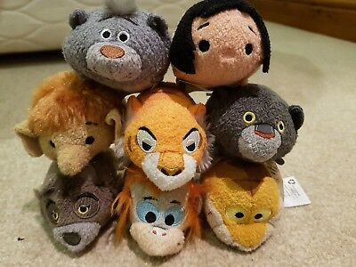 FULL SET! 8 x Jungle Book Tsum Tsums Official  Disney Store