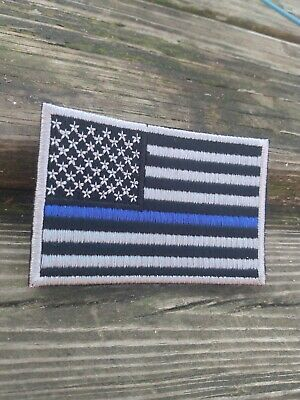 THIN BLUE LINE Velcr.o Hook and Loop Morale patch Made in the USA CLEARANCE