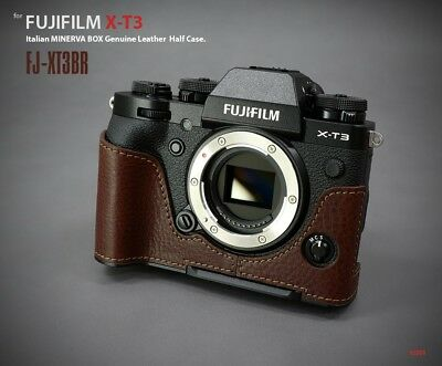 LIM'S Genuine Leather Camera Half Case Dovetail Plate For Fuji Fujifilm X-T3 XT3