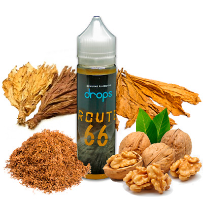 E-LIQUID DROPS ROUTE 66 50 ML (BOOSTER) 00 mg
