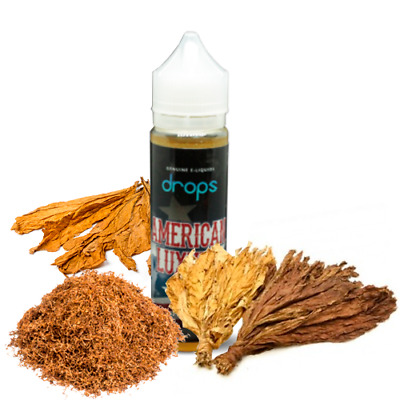 E-LIQUID DROPS AMERCIAN LUXURY 50 ML (BOOSTER) 00 mg