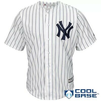 MLB Baseball Maillot Cool Base NY New York Yankees Brode Blanc XXL Neuf