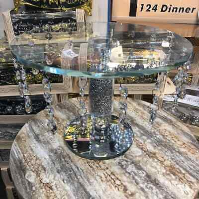 Crystal Mirror vintage Furniture Cake Stand Fruit Plate tier Crystal Wedding