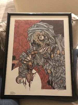 Metallica PUSHEAD Artist Picture Artwork Signed From 1990 LOOK RARE