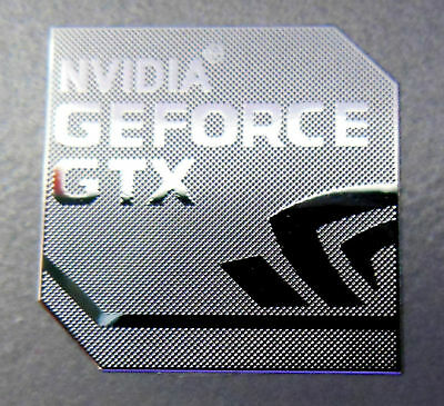 1x Nvidia Geforce GTX Silver Decal Case Genuine 19mm x 19mm Approx