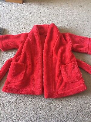 Unisex The Little White Company Dressing Gown Age12-18 Months