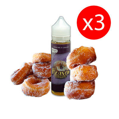 PACK 3 UNDS E-LIQUID DROPS HEAVEN SECRET 50 ML (BOOSTER) 00 mg