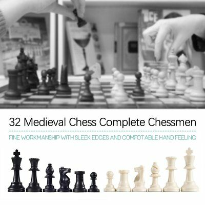65MM 32 Medieval Chess Piece Complete Chessmen International Word Chess OV