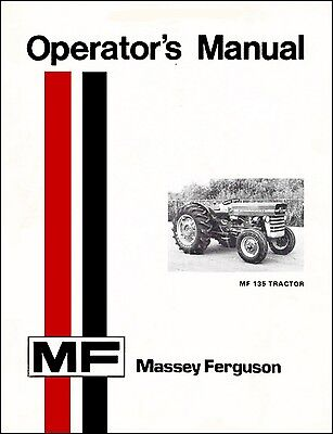 Massey Ferguson MF 135 Tractor Manual 1969 MF 150 165 410 420 3000 3100 MF lDD