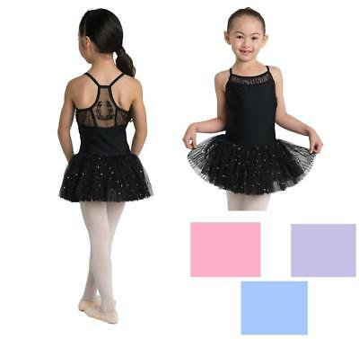 NEW Dance Leotard Dress Tutu Lycra Embroidered Mesh ALL SIZES/COLORS Ballet Tap