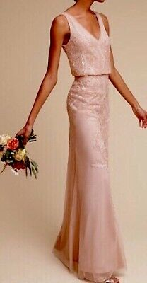 SALE NWT SOLD OUT BHLDN Adrianna Papell Pink Allover Beading AUBREY Sz2 MSRP$280