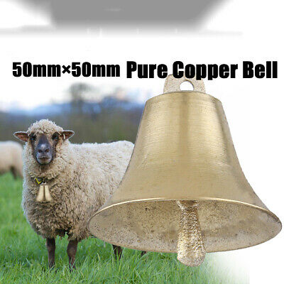 Pure Copper Bell Super Loud Sheep Dog Cat Cow Horse Animal Farm Bells Decor AU