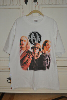 RARE OFFICIAL Hanson Albertane Tour Shirt With Dates On Back Size X-LARGE!
