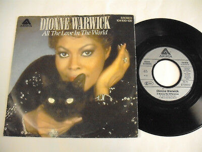 """DIONNE WARWICK  All The Love In The World  7"""""""