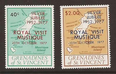 GRENADINES OF ST.VINCENT 1977 SG104/5 Royal Visit Set MNH (JB5076)
