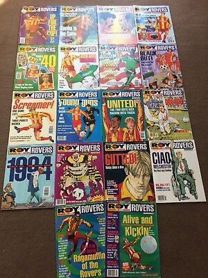18 x Roy of the Rovers Monthly Issues 1 -18: Sep 93 - Feb 95 Excellent Condion