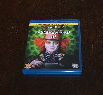 Alice in Wonderland 3D (Blu-ray/DVD, 2010, 4-Disc Set)
