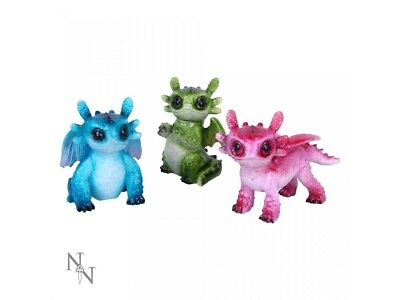 Set Of 3 Tiny Dragons Figurines Action Toys Collectable Fantasy Xmas gift Filler