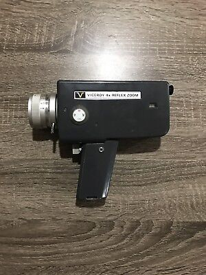 Viceroy 4x Reflex Zoom Super 8 Movie Camera (TESTED - WORKING)