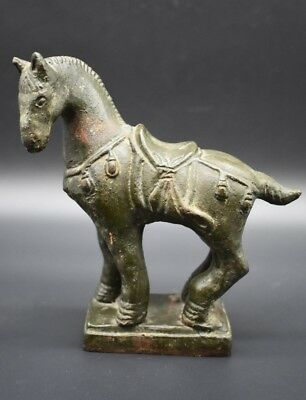19th Century Chinese bronze horse figurine - with makers mark