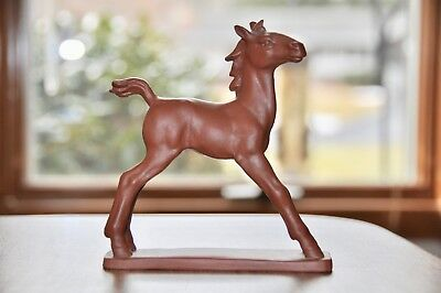 "Vintage 1950's Ceramic Brown/chestnut Horse  5 1/2"" Tall Germany"