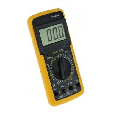 MULTIMETRO DIGITALE TESTER CON CAVI PUNTALI e GUSCIO DISPLAY DT 9205A DT 9205A+