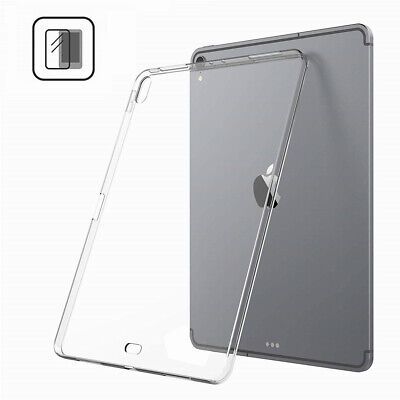 For iPad Pro 12.9 & 11 Inch 2018 Silicone Transparent Clear Soft TPU Case Cover