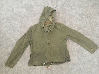WWII-era US Navy Hooded Parka Pullover Deck Hand Jacket - FREE SHIPPING