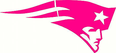 New England Patriots Ladies Hot Pink Auto Car Vinyl Decal