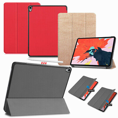 For iPad Pro 12.9 3rd Gen 2018 Smart Leather Rugged Stand Case Pencil Charging