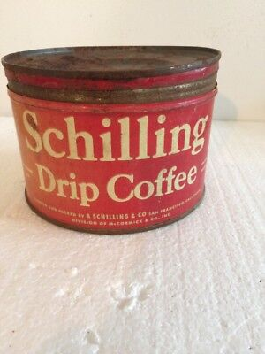 Vintage- Schilling Drip Coffee Can- 1 Pound Coffee Can
