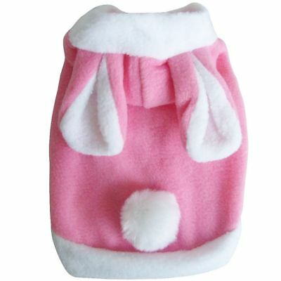 Popular Cute Rabbit Shape Thick Cotton Puppy Dog Clothing Pet Dog Cat Clothing