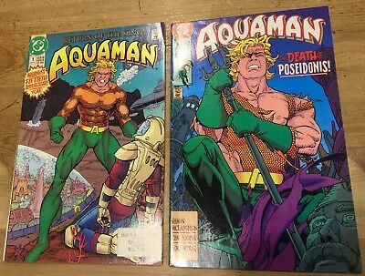 AQUAMAN #1  RETURN OF THE KING  DC  1991  and #2