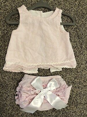 RuffleButts Seersucker Swing Top & Ruffle Bloomers Baby Girl 0-3mo MSRP $43.50